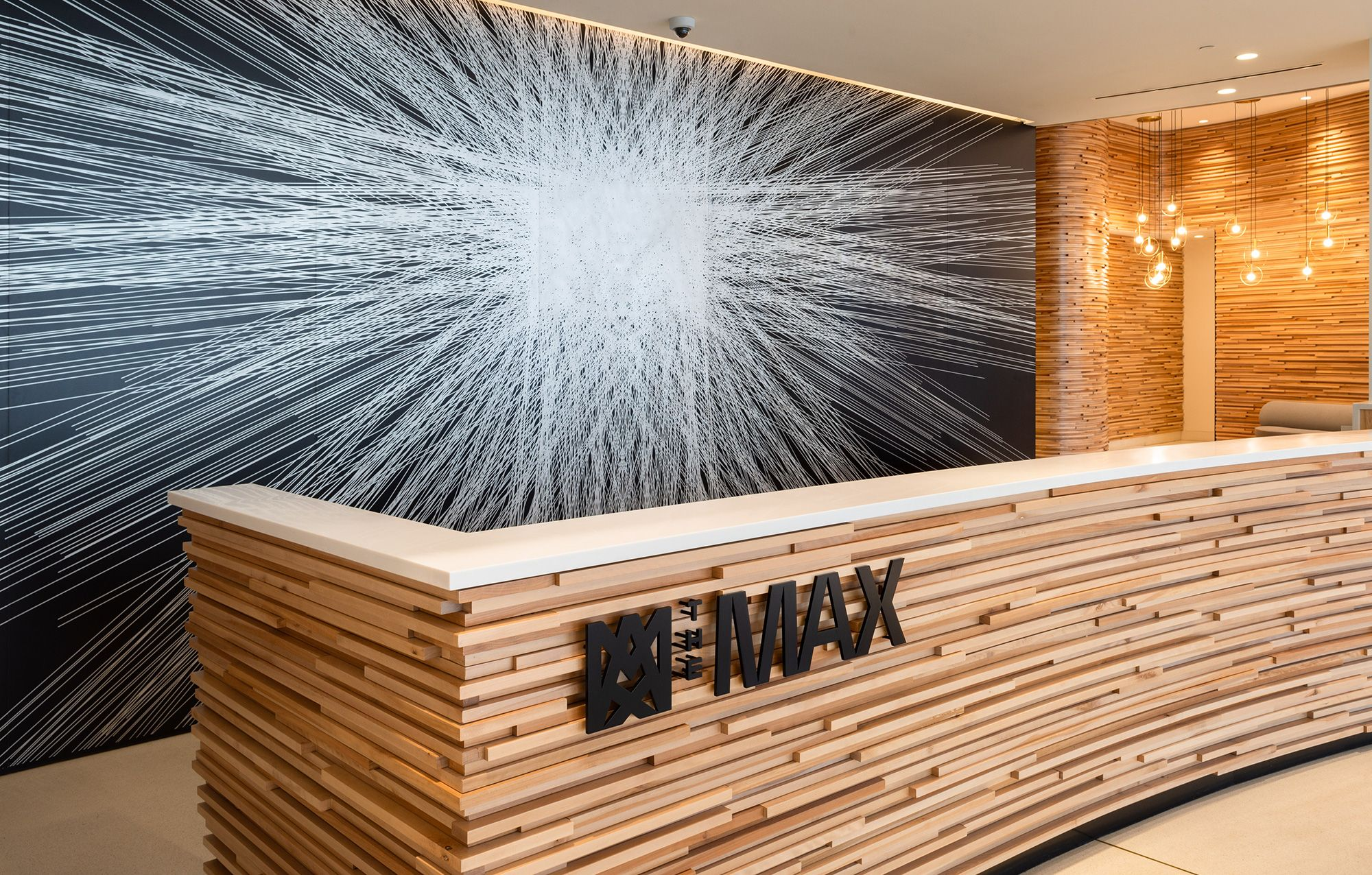 Photograph of The Max front desk