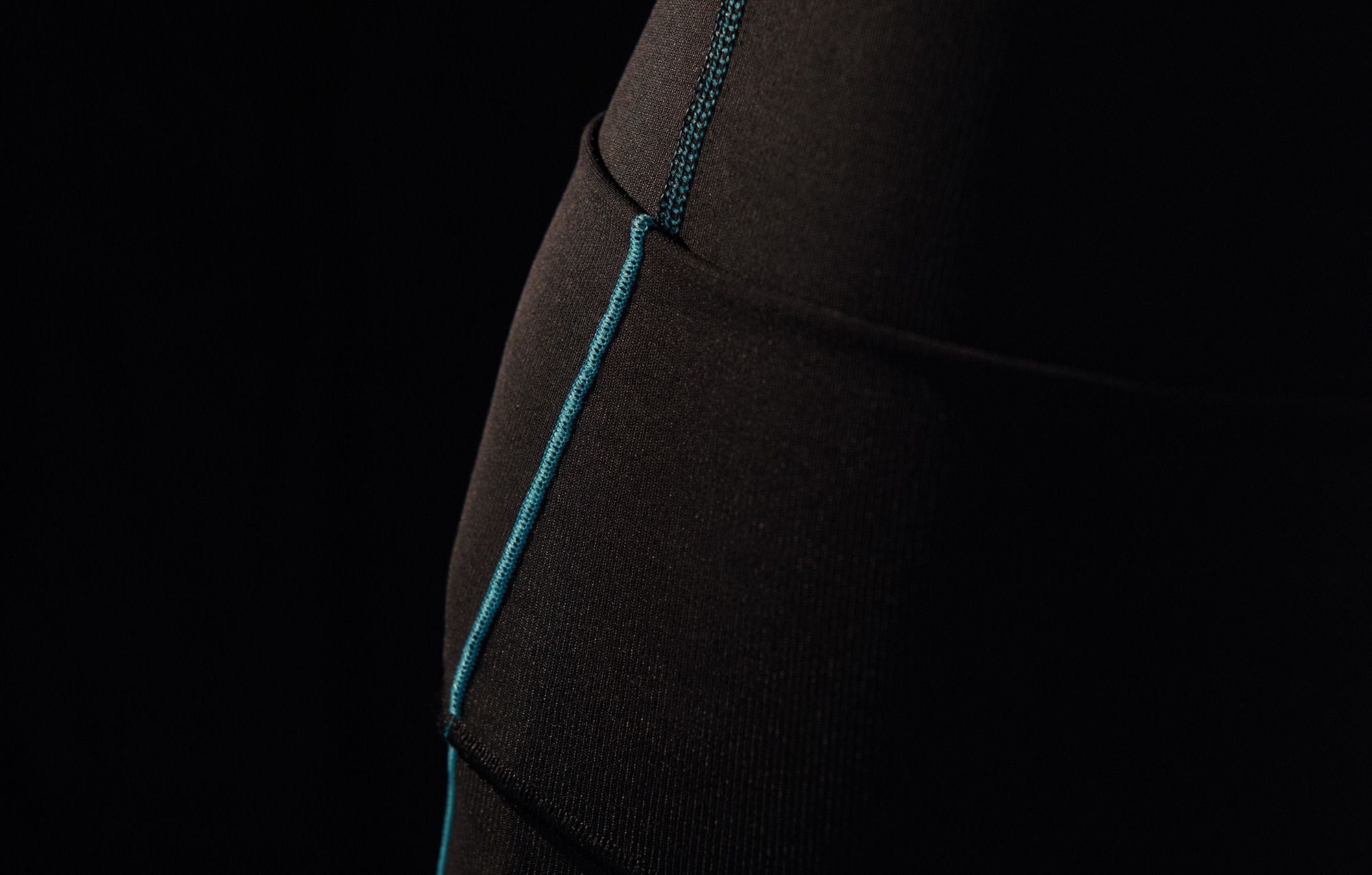 Detailed photograph of a Marena Sport garment's stitching